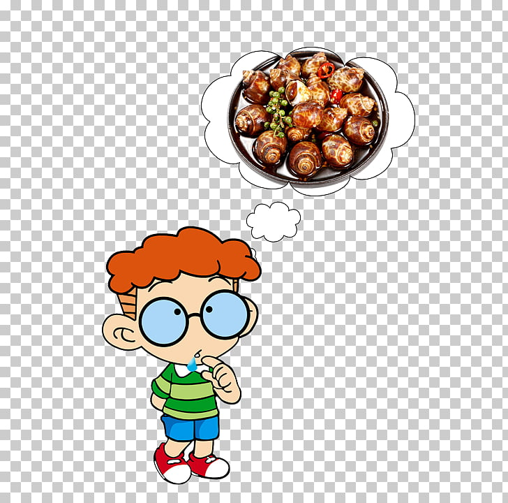 Cartoon Animation , I want to eat fried snail PNG clipart.