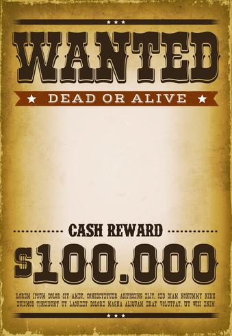 Wanted Western Poster Background.