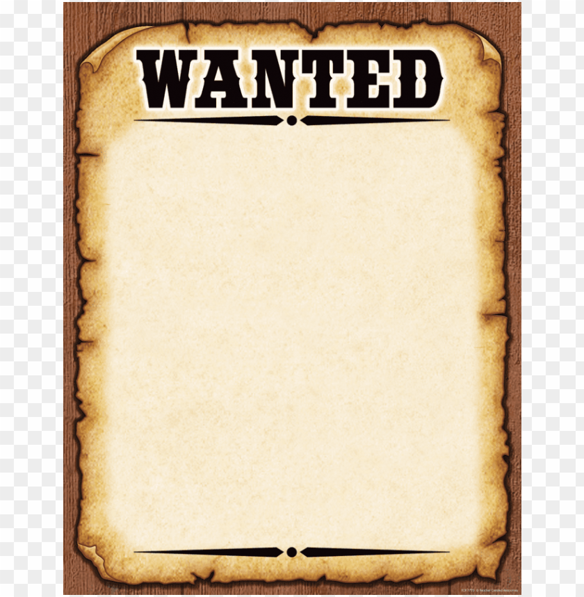 free blank wanted poster PNG image with transparent background.