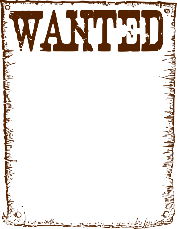 Free Clipart: Wanted frame.