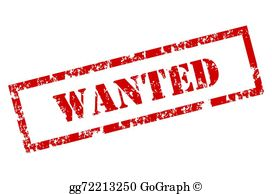 Wanted Clip Art.