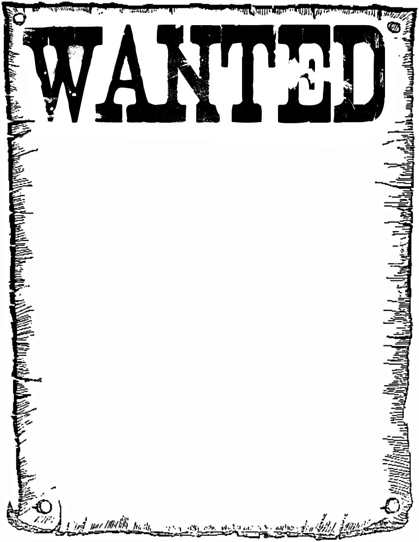 Wanted Clipart.  Free Wanted Poster Template