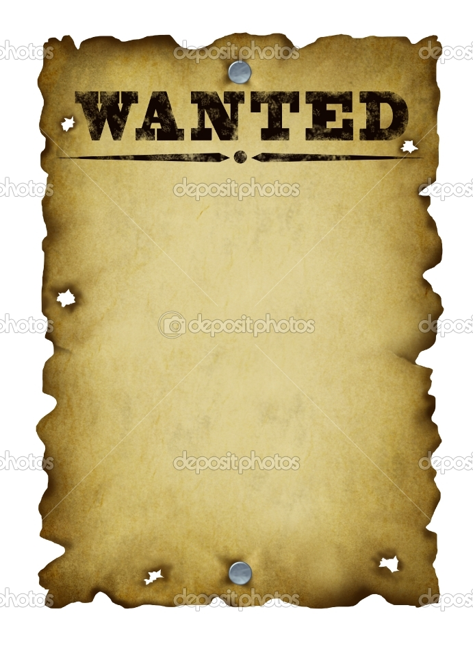 Free Wanted Poster Clipart.