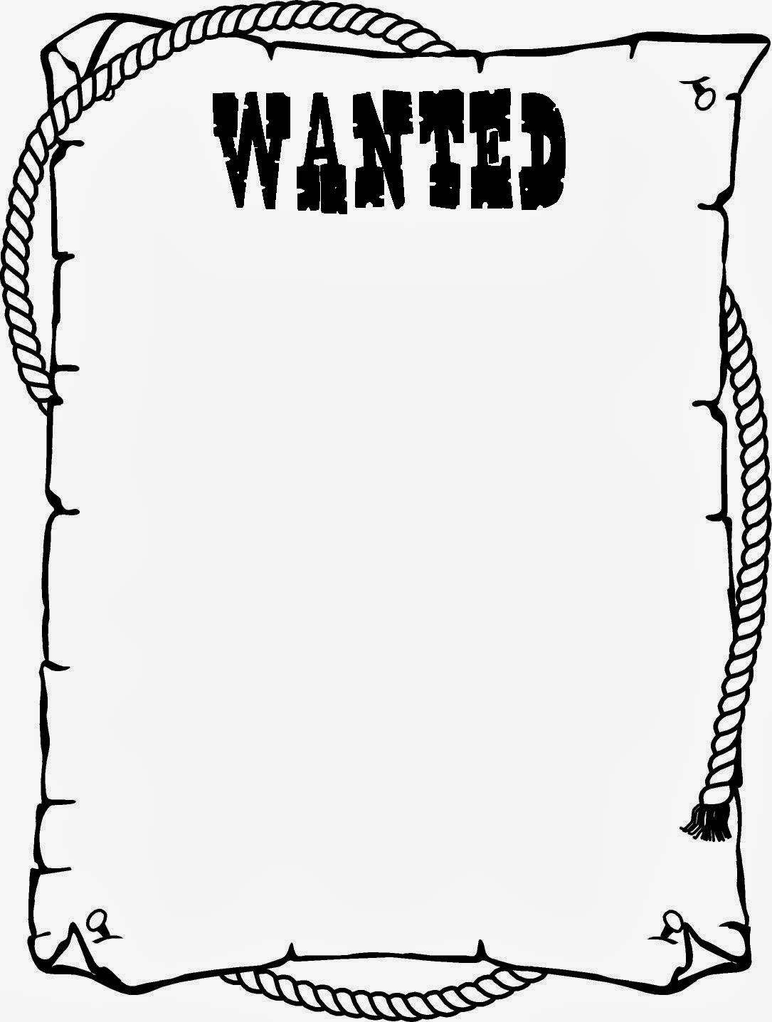 Cute face on wanted poster clipart.
