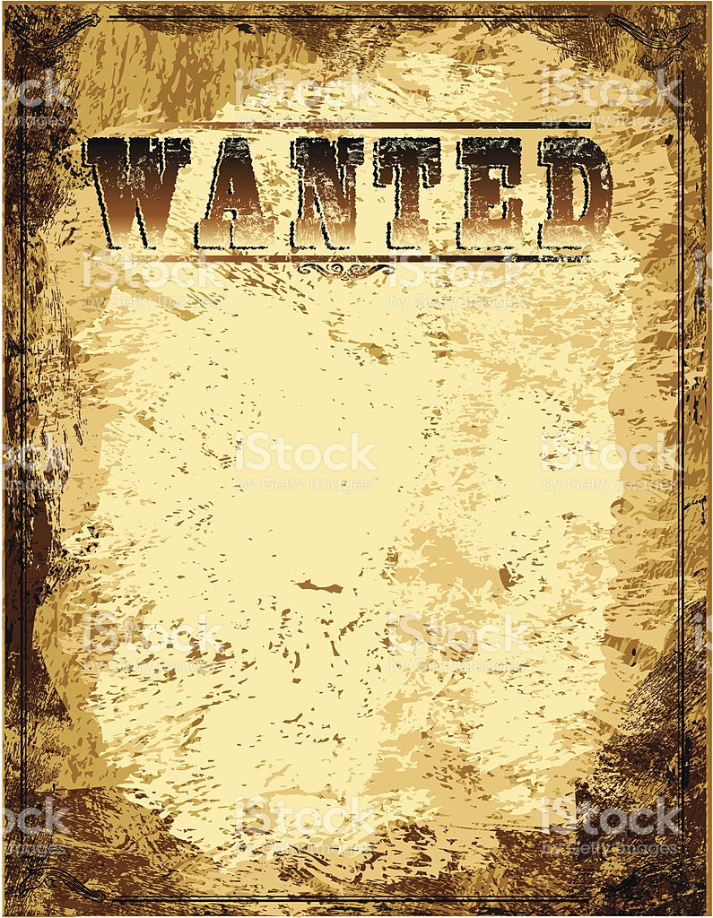 Wanted Poster Vector at GetDrawings.com.