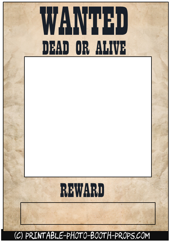 Wanted Dead or Alive Frame.