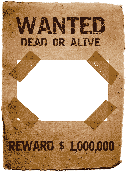 Wanted dead or alive png » PNG Image.