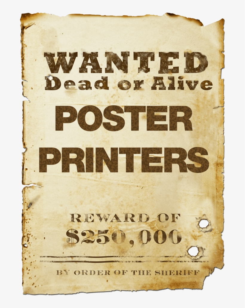 Blank Wanted Poster Png Download.