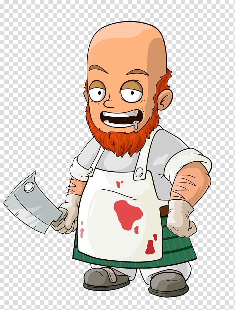 Character Amazing Rope Guy Cartoon, poultry butcher.