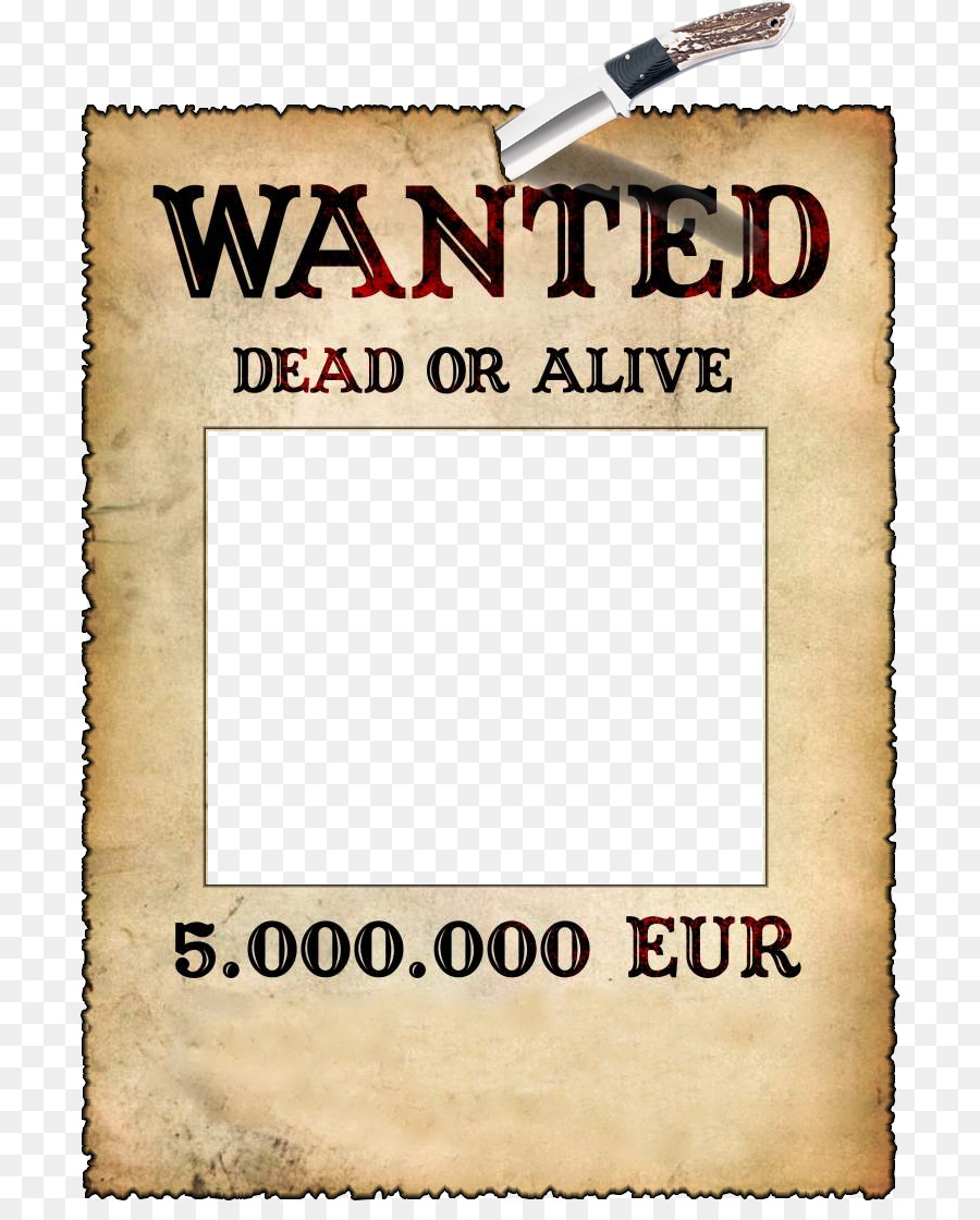 Wanted Poster Template png download.