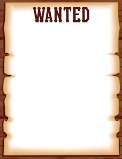 Wanted Poster Border.