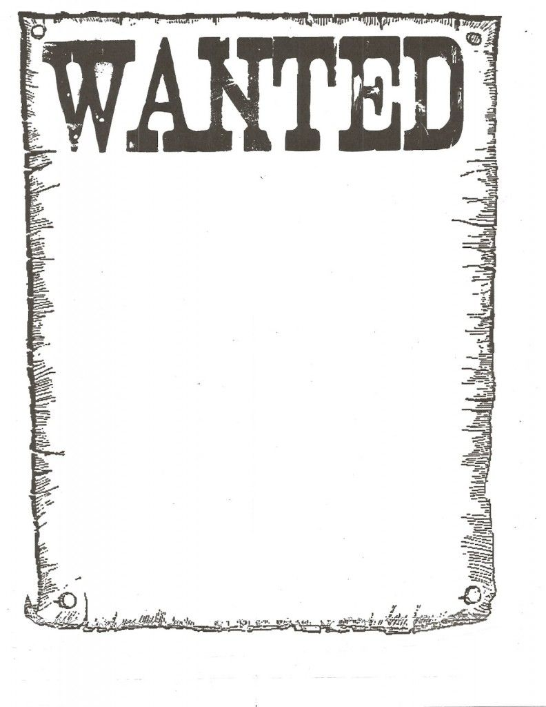 Wanted Poster Template For Kidsclassroom.