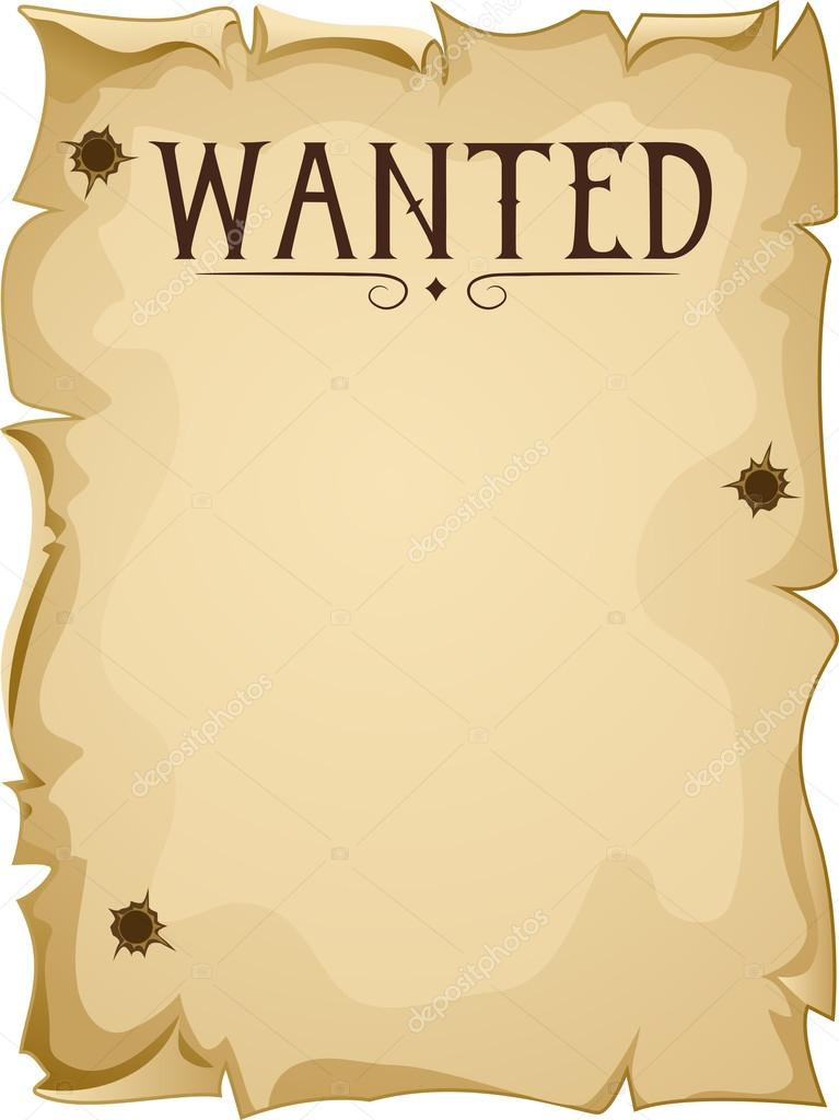 Clipart: wanted blank poster.