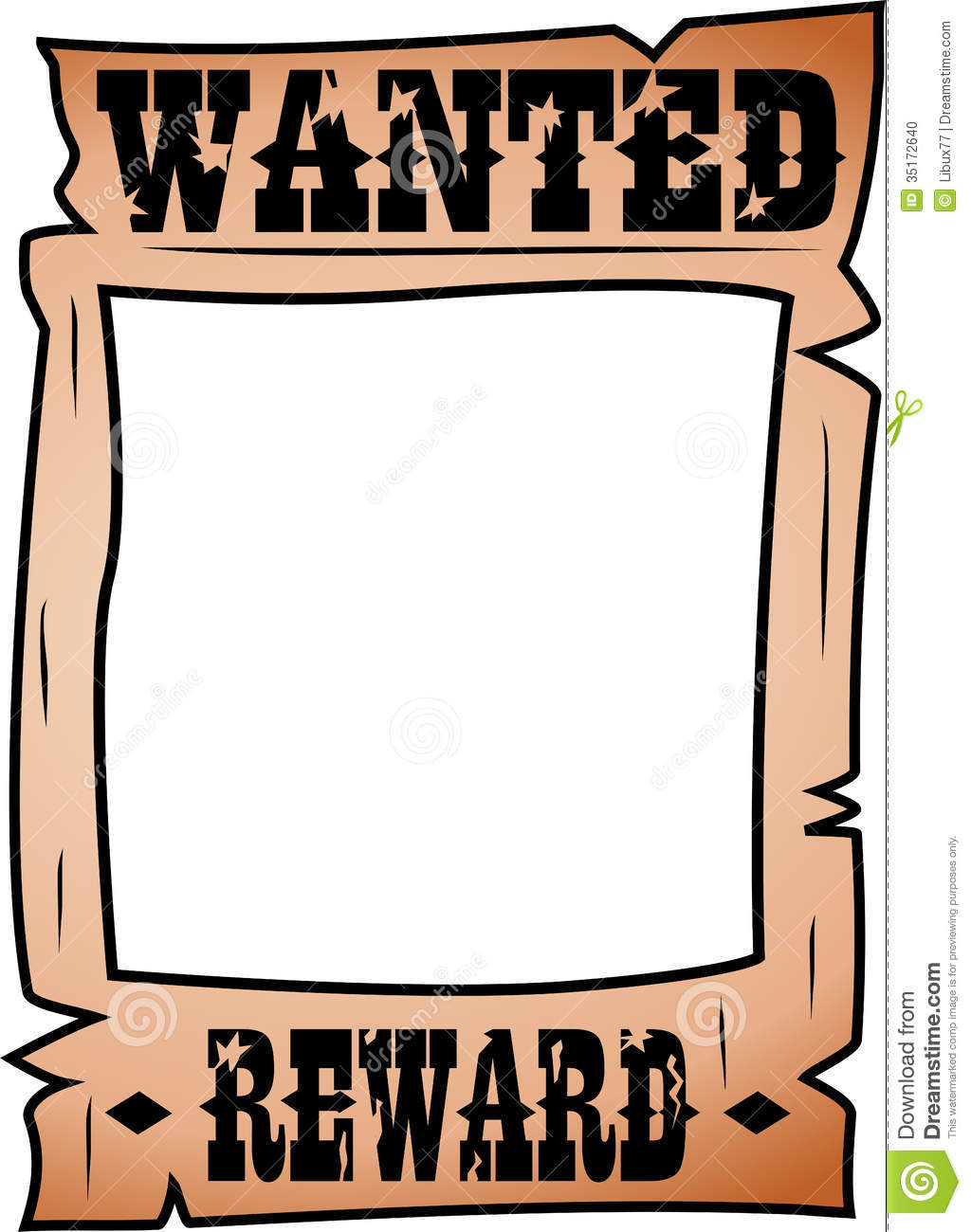 19+ Wanted Poster Clipart.