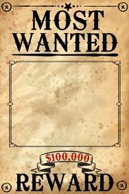 Customize 220+ Wanted Templates.