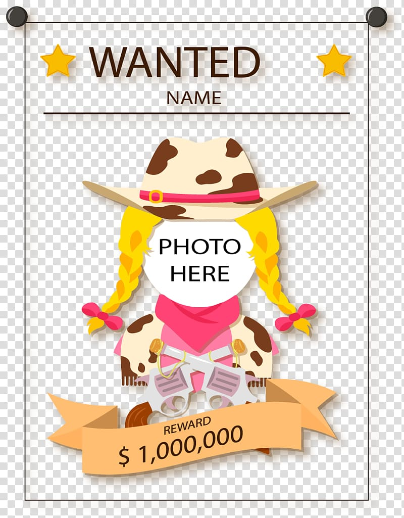 Wanted Poster transparent background PNG cliparts free.