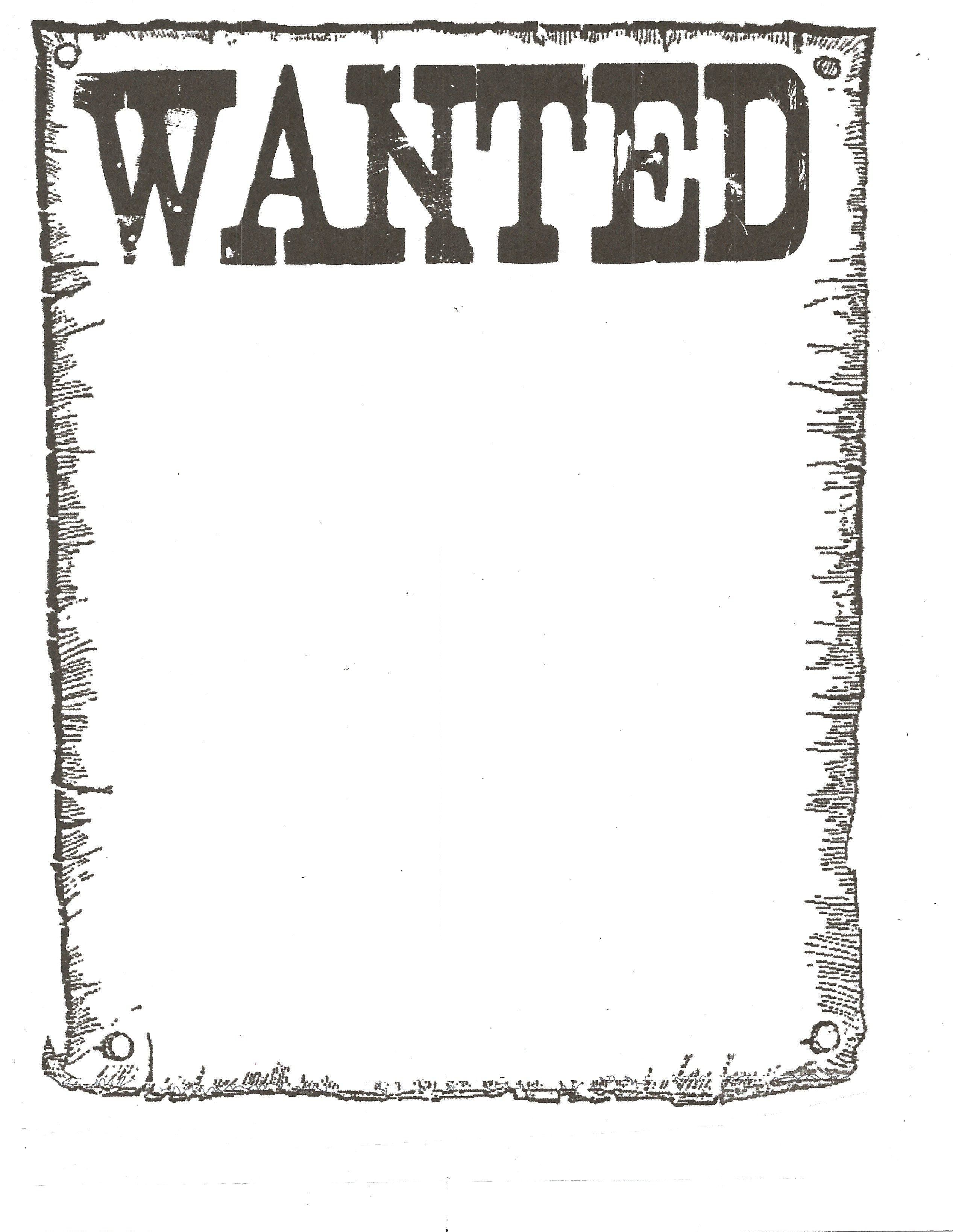 Western wanted poster clipart 7 » Clipart Station.
