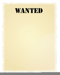 Wanted Poster Clipart.