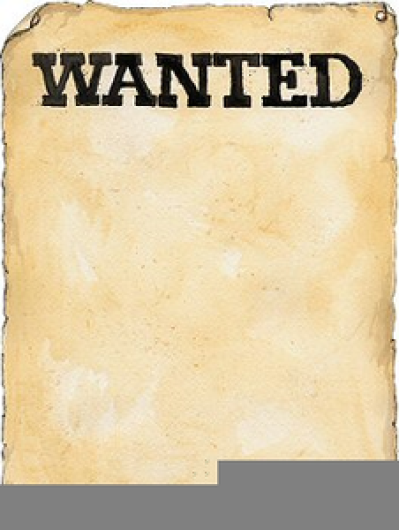 Blank Wanted Poster Clipart PNG.