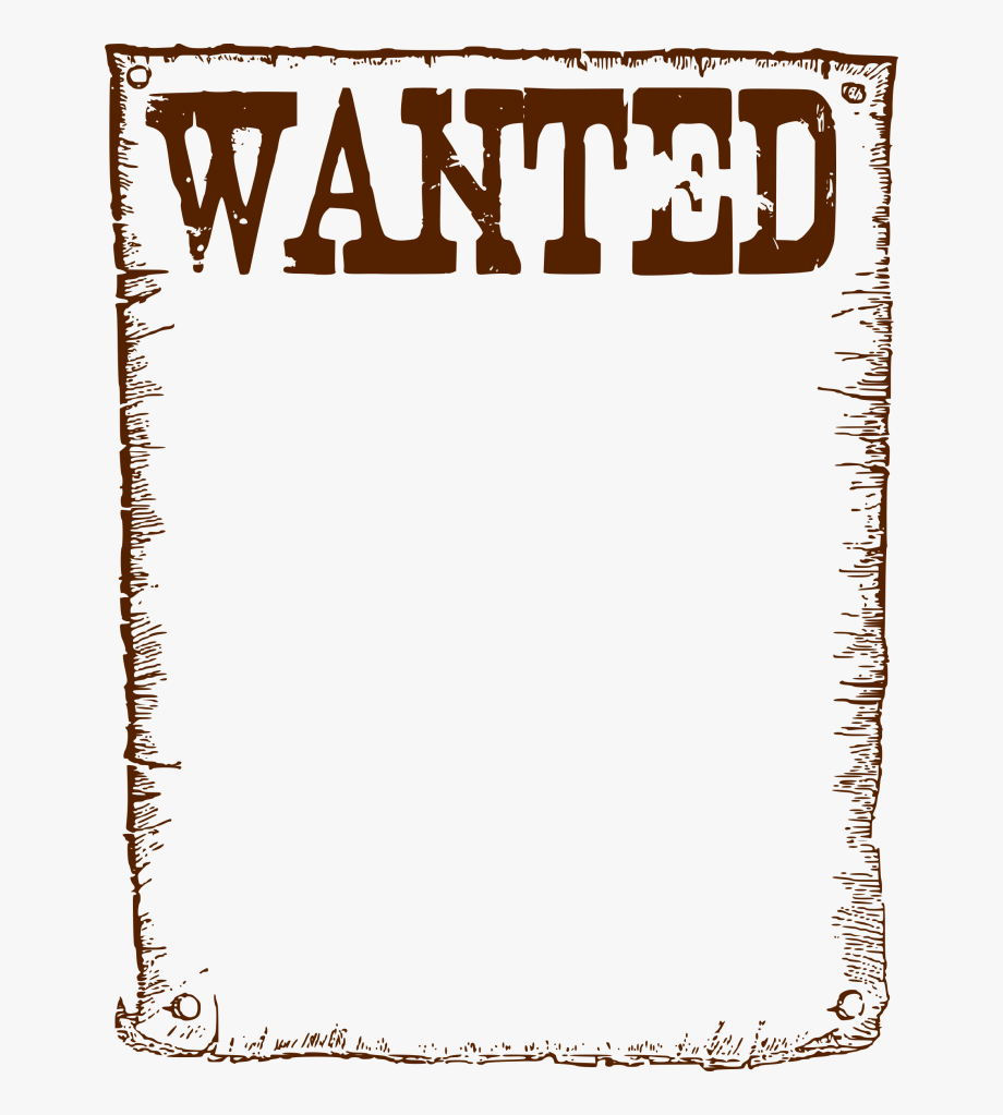 Clipart Wanted Frame Missing Reward Poster Template.