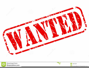 Wanted Sign Clipart.