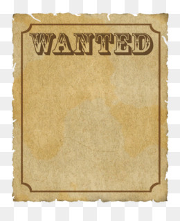 Free download Wanted Poster Template png..