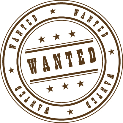 Wanted Stamp Clipart Graphic.