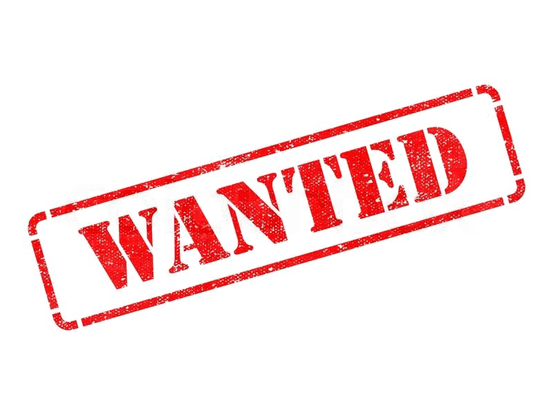 Wanted Stamp PNG Image.