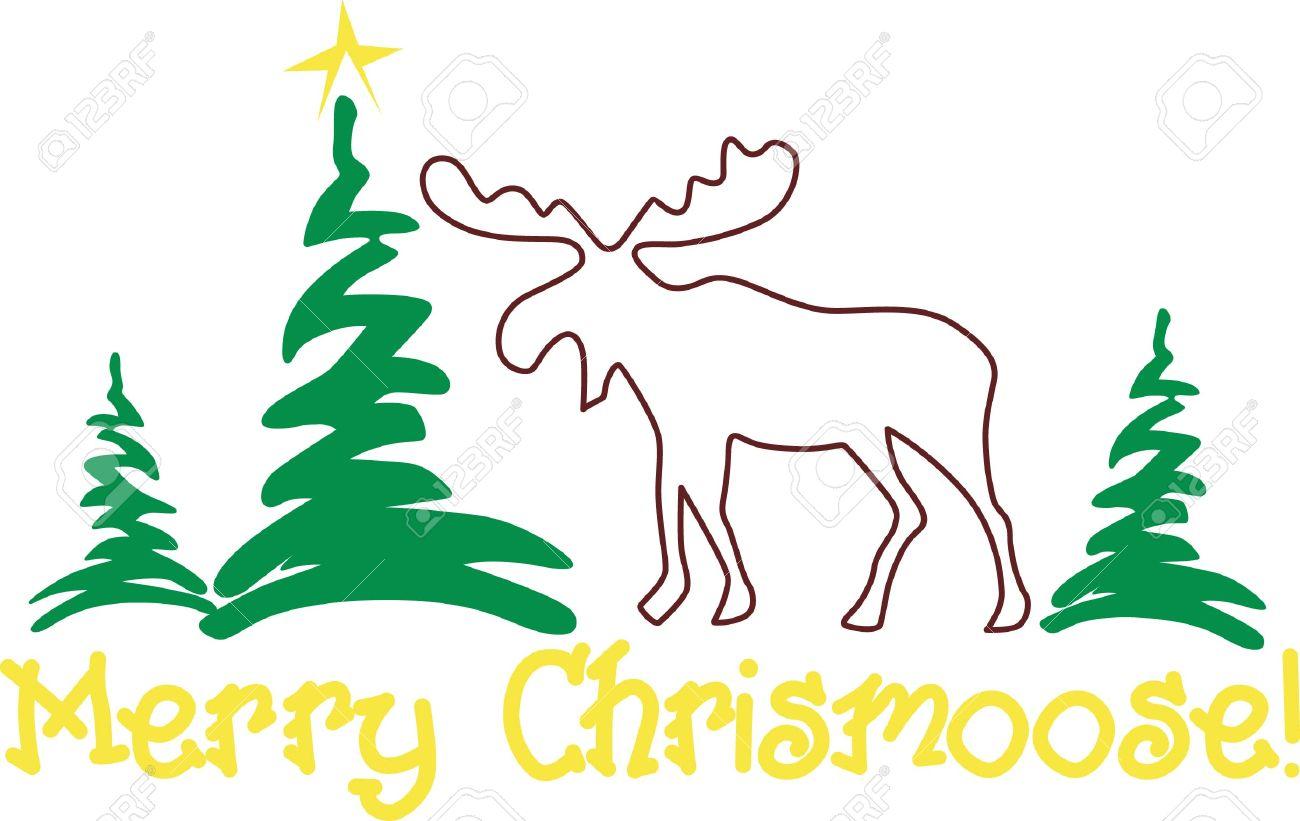 Moose, Wapiti, Animal, Mammal, Deer, Wildlife, Outline, Plant.