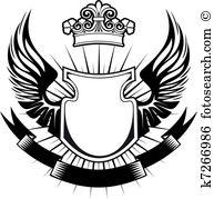 Wappen Clipart und Illustrationen. 17.133 wappen Clip Art Vector.