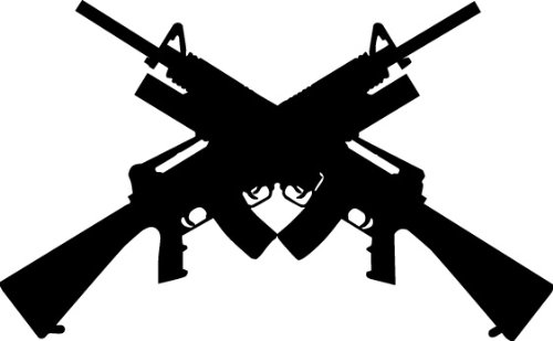 Amazon.com: WEAPON GUN RIFLE FIREARM Vector Clipart Vinyl Cutter.