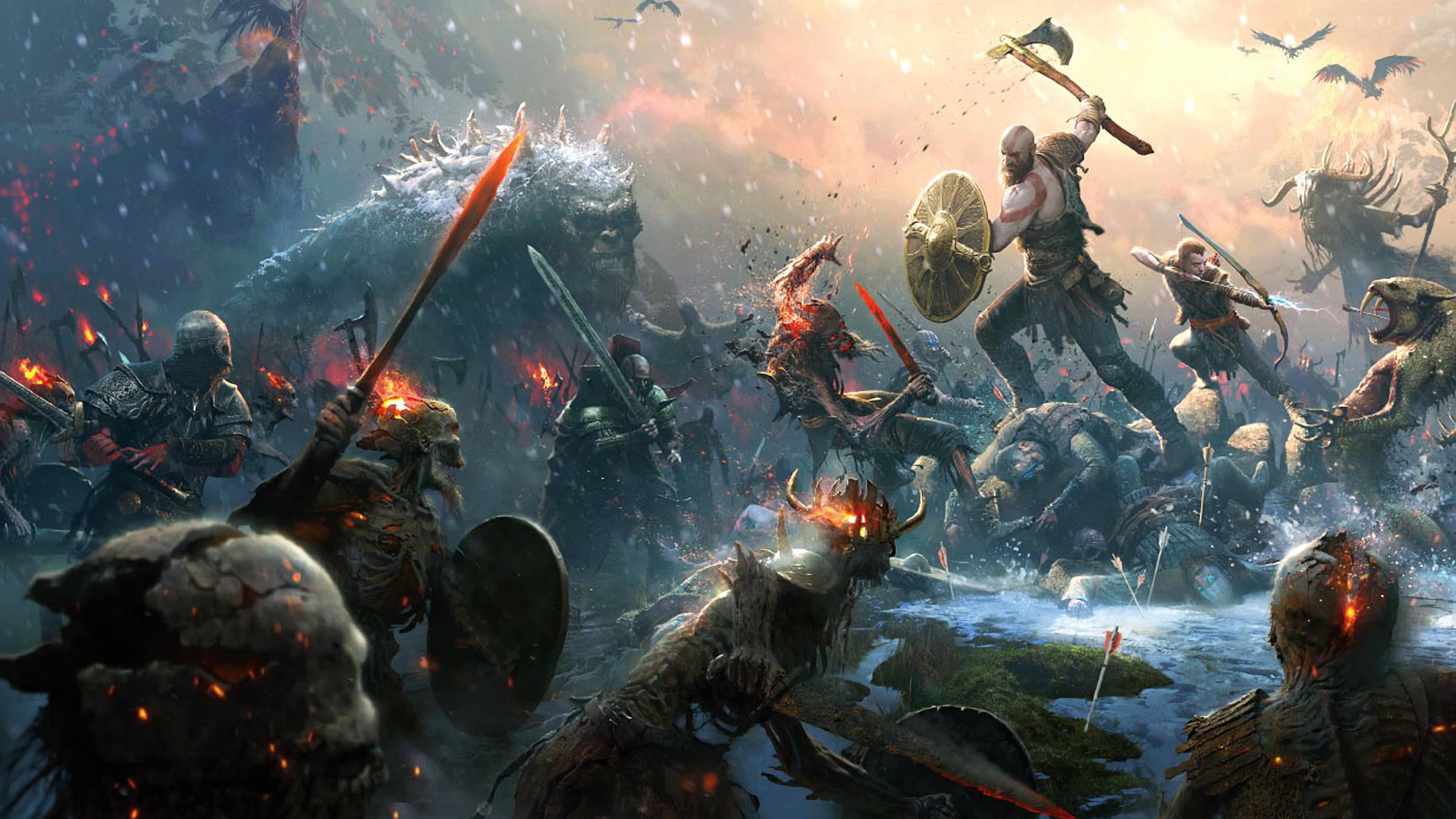 God of War (2018) HD Wallpaper.