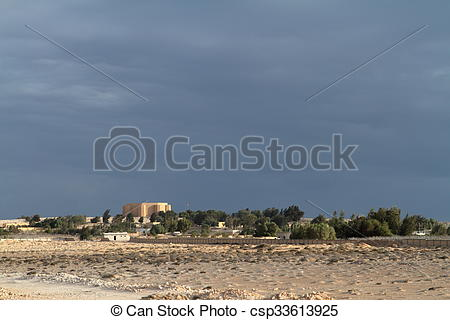 Clip Art of German war cemetery El Alamein in Egypt csp33613925.