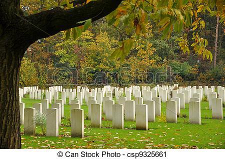 Stock Photography of Jonkerbos War Cemetery, Nijmegen, The.