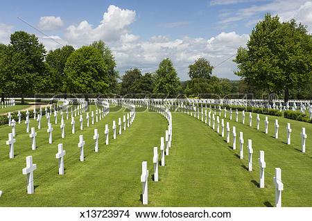 Stock Photo of US War Cemetery, Madingley, Cambridge,UK x13723974.