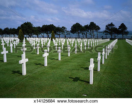 Stock Photo of France, Normandy, Calvados, American second world.