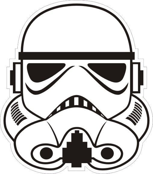 star wars clip art black and white.