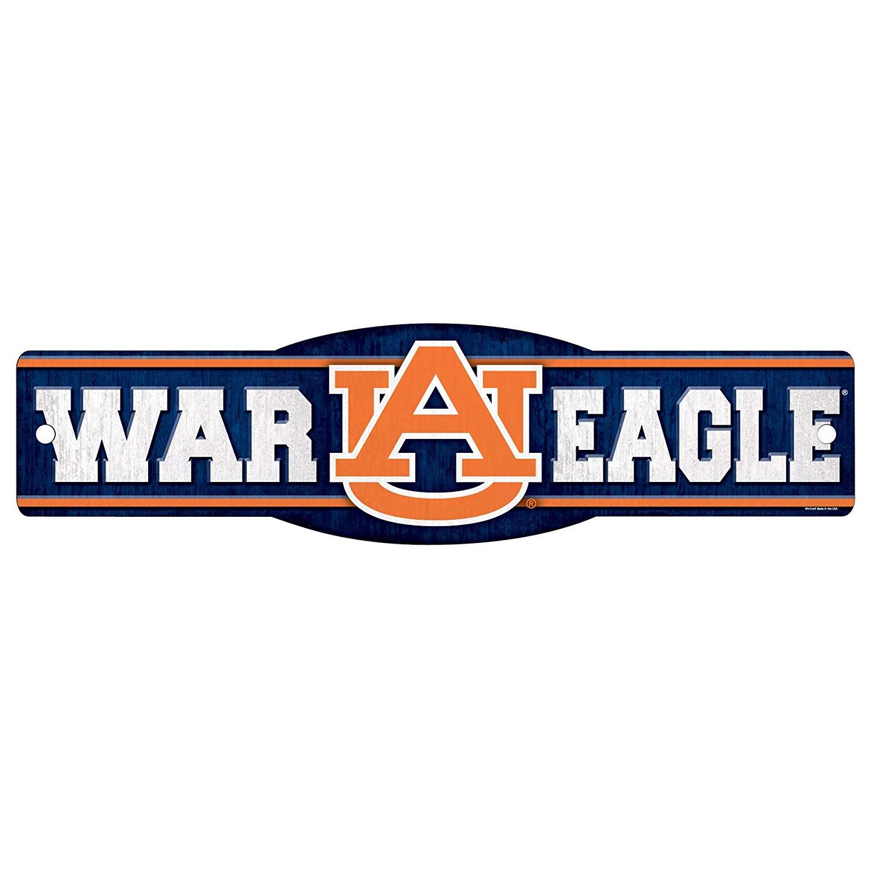 Wincraft NCAA Auburn Tigers War Eagle Sign, 4.5 x 17.