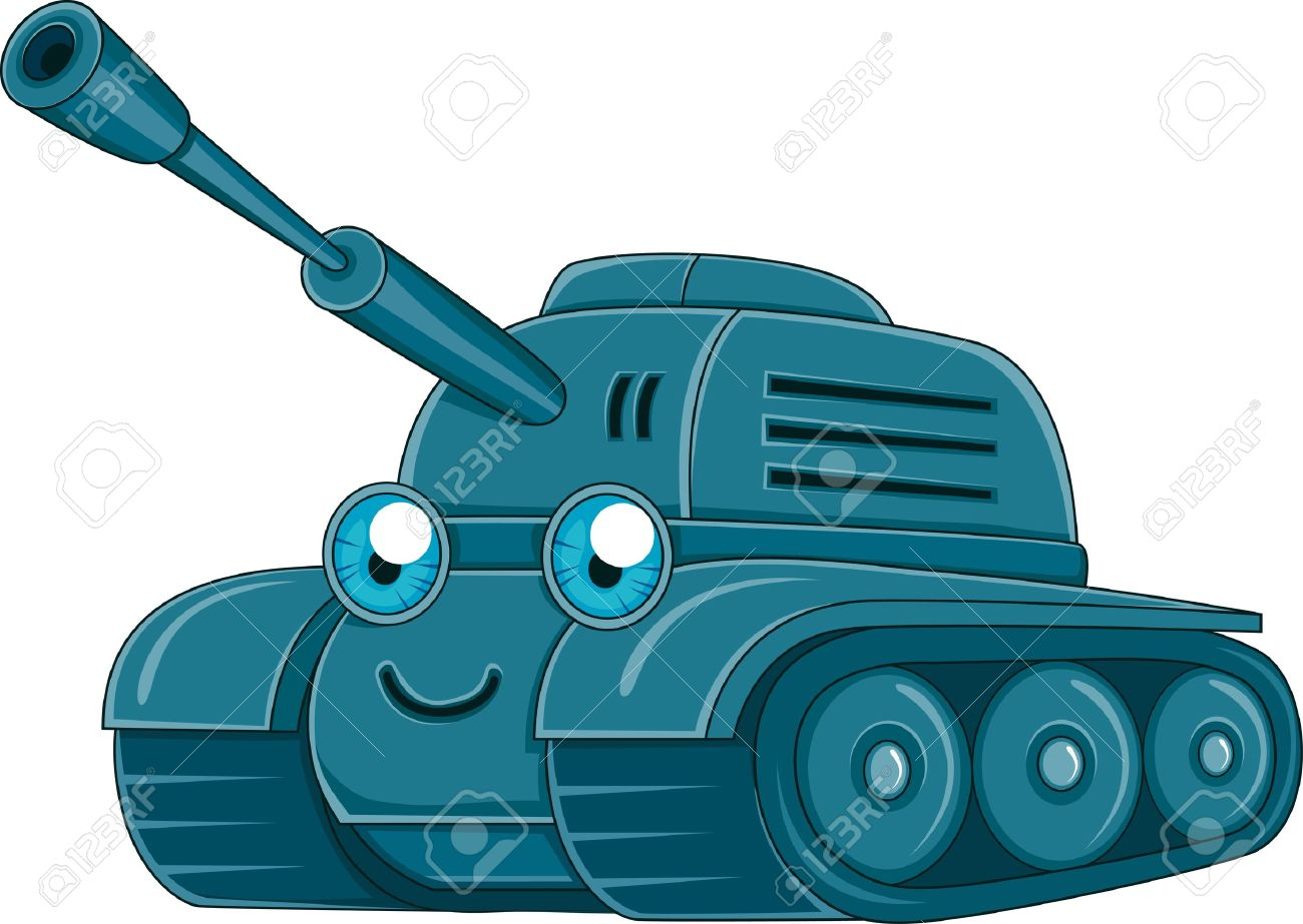 Illustration Of A Military Tank Stock Photo, Picture And Royalty.