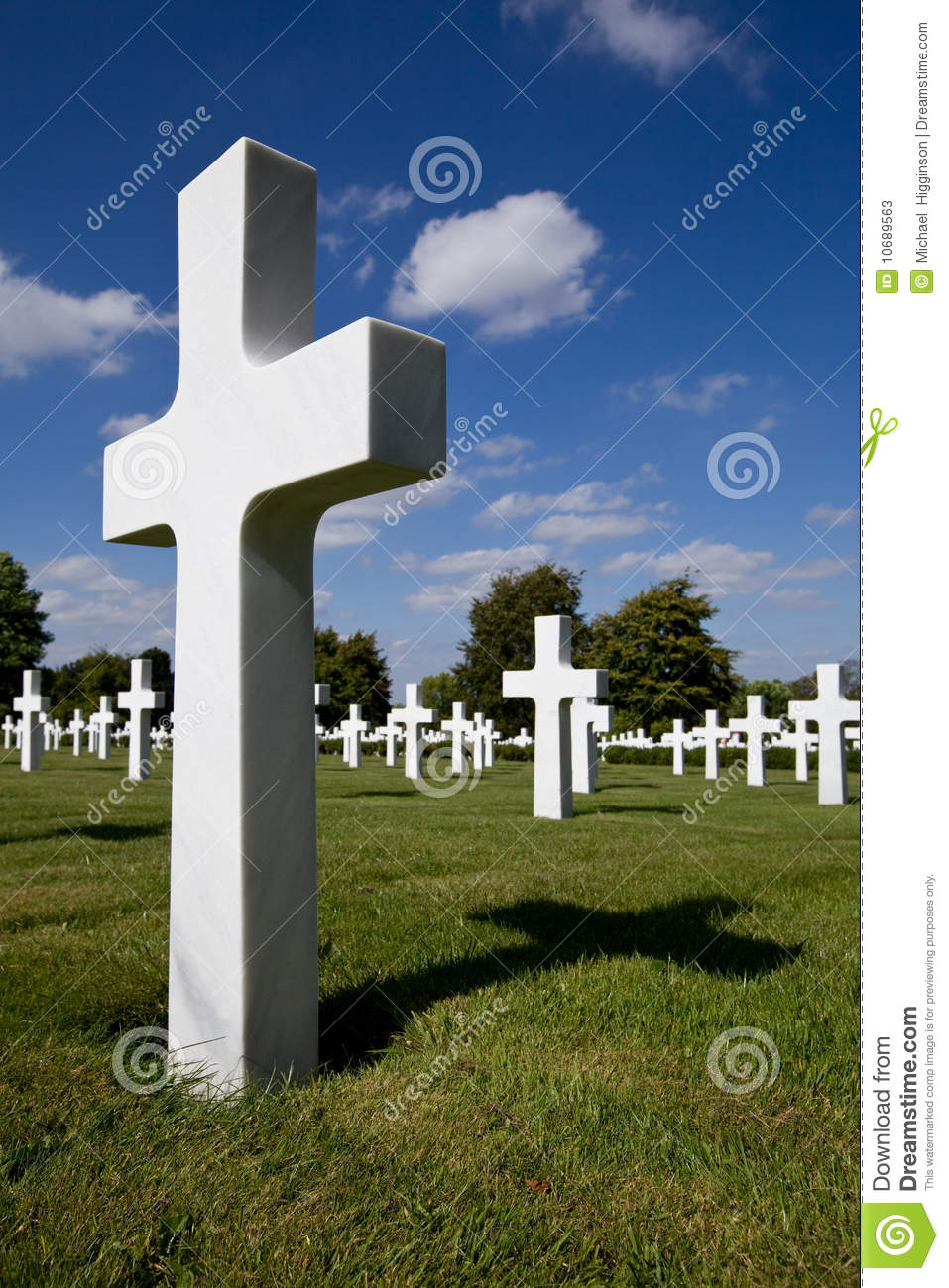 Cross Depicting War Grave Stock Photos.