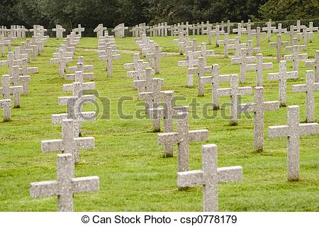 Stock Photographs of War Graves in France.
