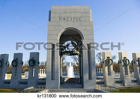 Stock Photography of World War Ii Memorial Washington Dc Monument.