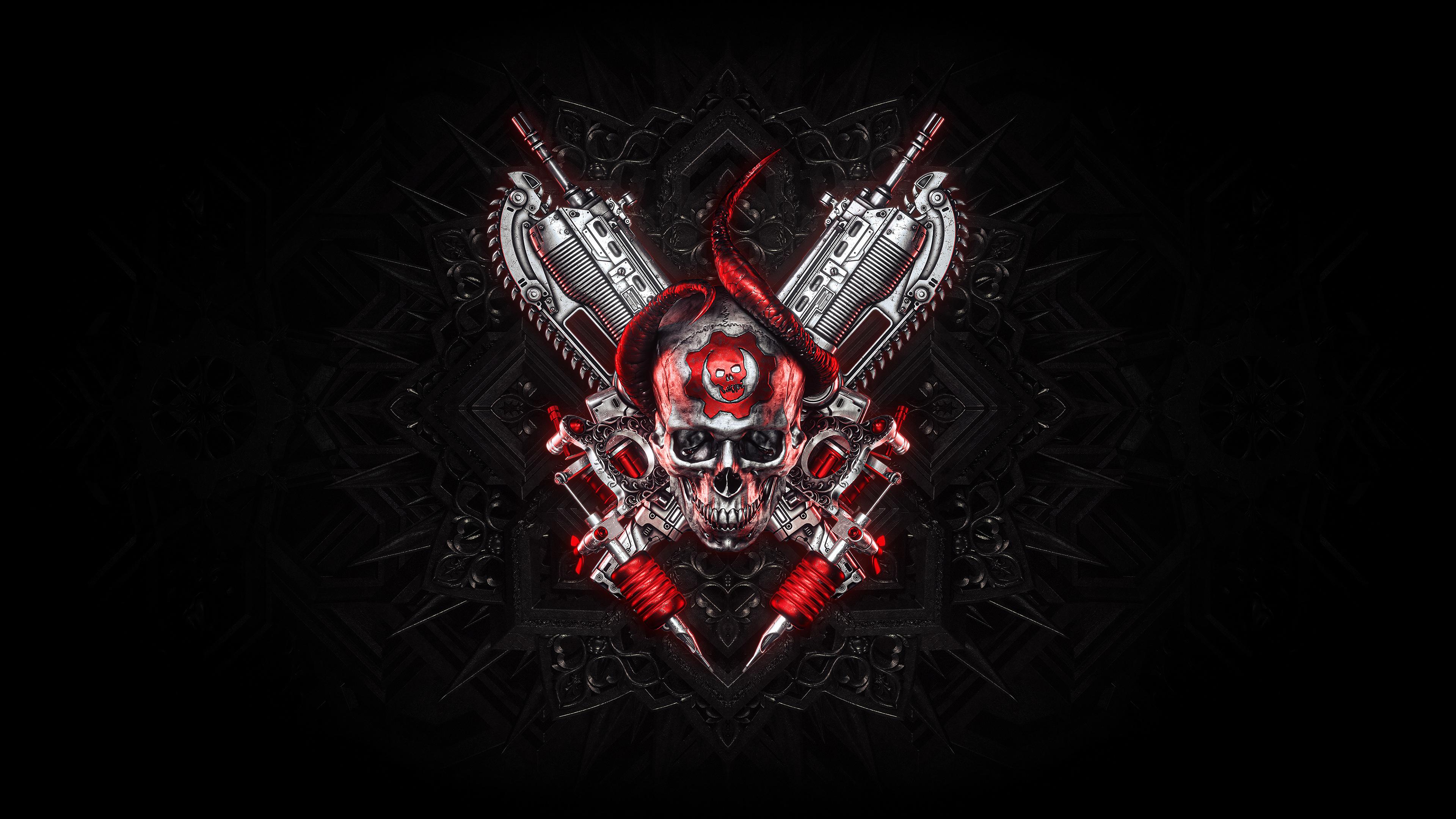 Gears Of War Logo 4K Wallpaper, HD Artist 4K Wallpapers.