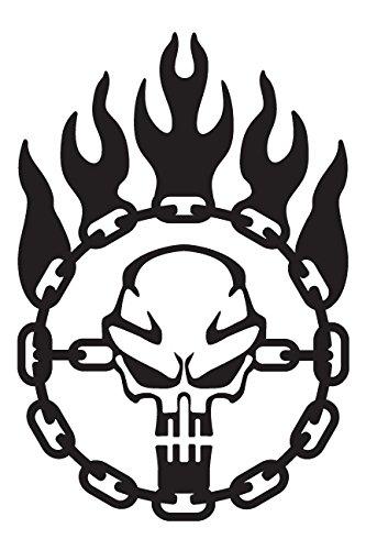 Bamfdecals Immortan Joe War Logo Chain Skull Steering Wheel Mad Max  Inspired Vinyl Decal.