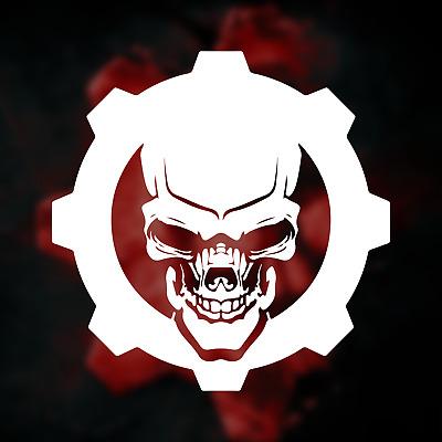 Gears 5 Omen / Gears of War Logo Vinyl Decal Sticker.