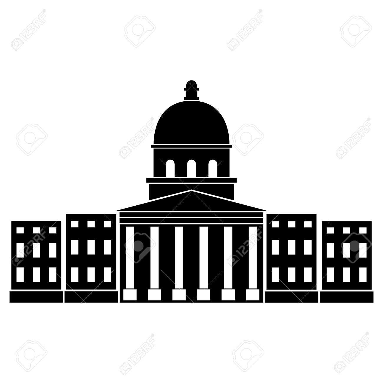 Vector Illustration Of Imperial War Museum Of London Royalty Free.