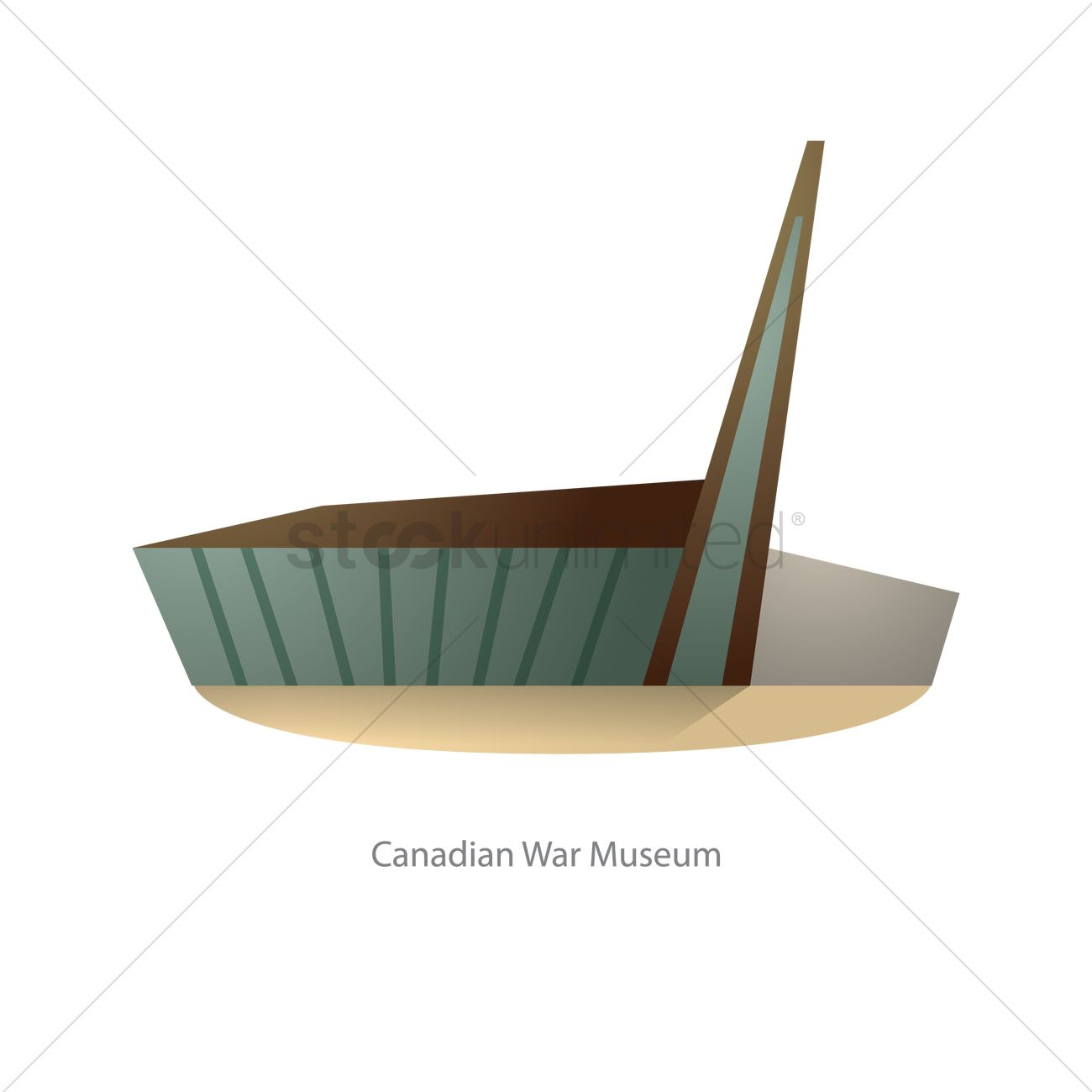 Canadian war museum Vector Image.