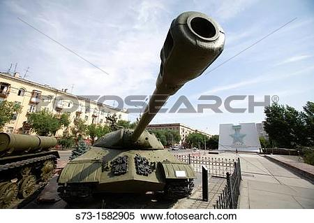 Stock Image of Tank in front the War Museum in Volgograd, Russian.