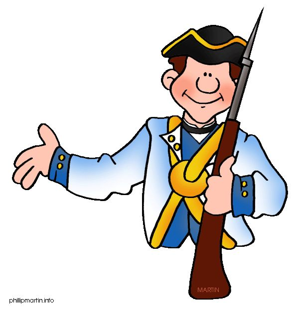 Colonial soldier clipart.