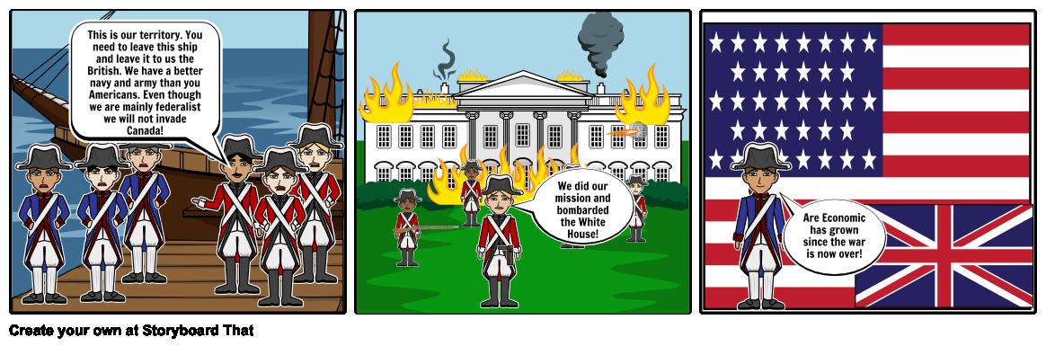 War of 1812 comic strip Storyboard by brownsm.